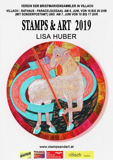 Plakat stamps & art, Lisa Huber (Lamm Gottes)